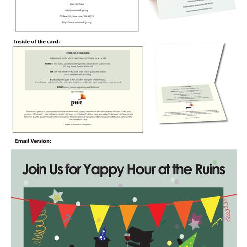 Create an invitation for special evening for dogs and their humans!!