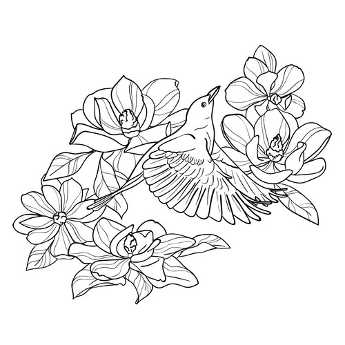 Tattoo design for a feminine tattoo with a story