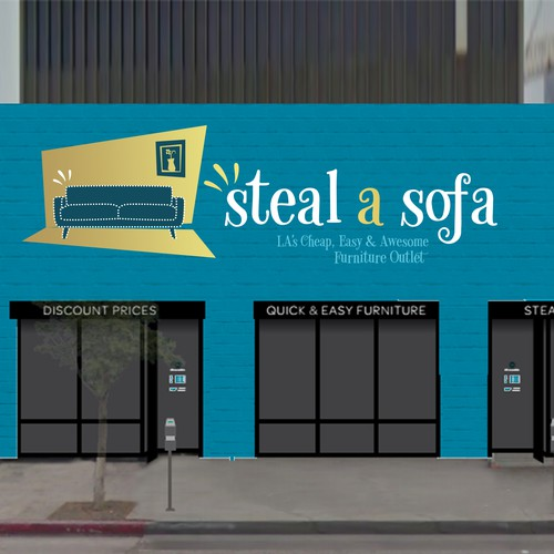 Steal a Sofa Logo Design