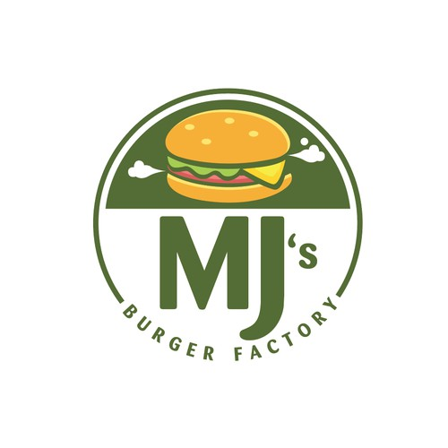 Logo for MJ'S Burger Factory