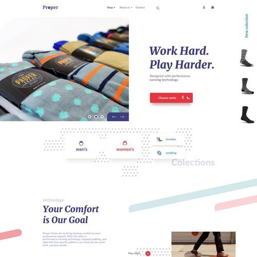 Custom Sock Interactive Website Redesign