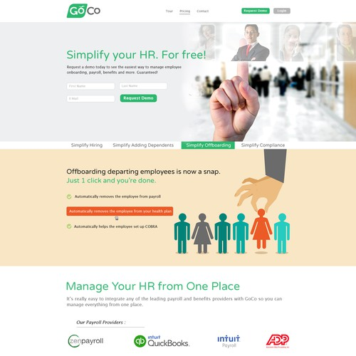 Modern & Clean Homepage for HR Software