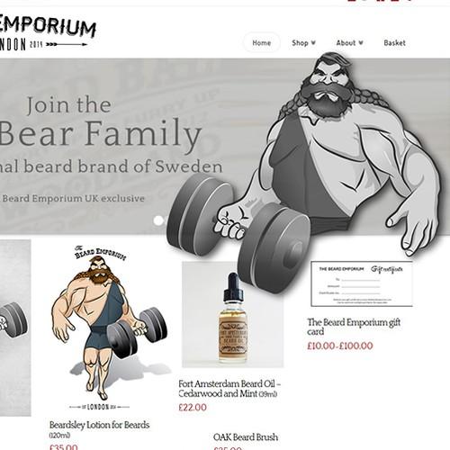 Strongman character design creation for The Beard Emporium.com