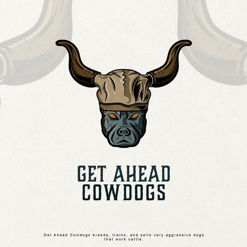 logo for a cowdog