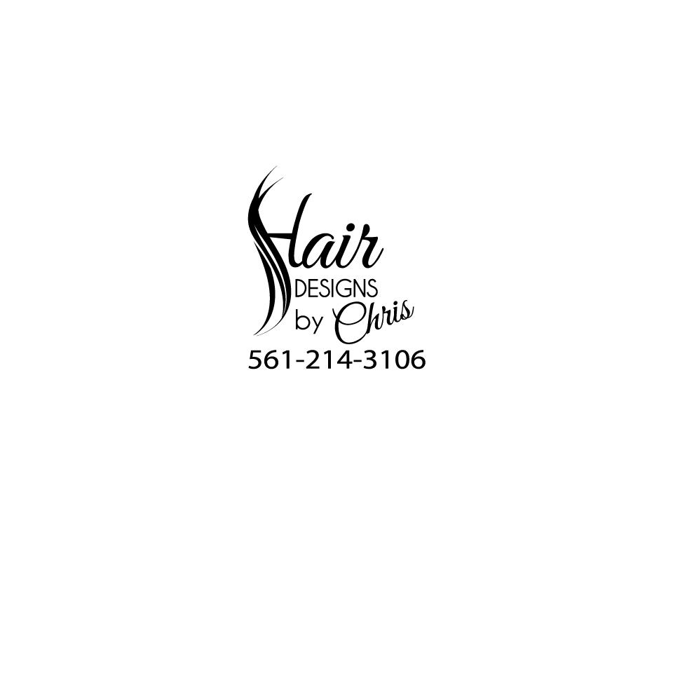 Clean but pretty logo for Hair Designs By Chris