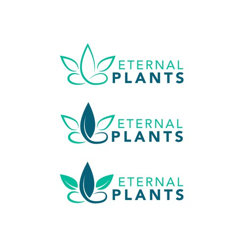 Clean, organic lifestyle/supplements logo for Eternal Plants