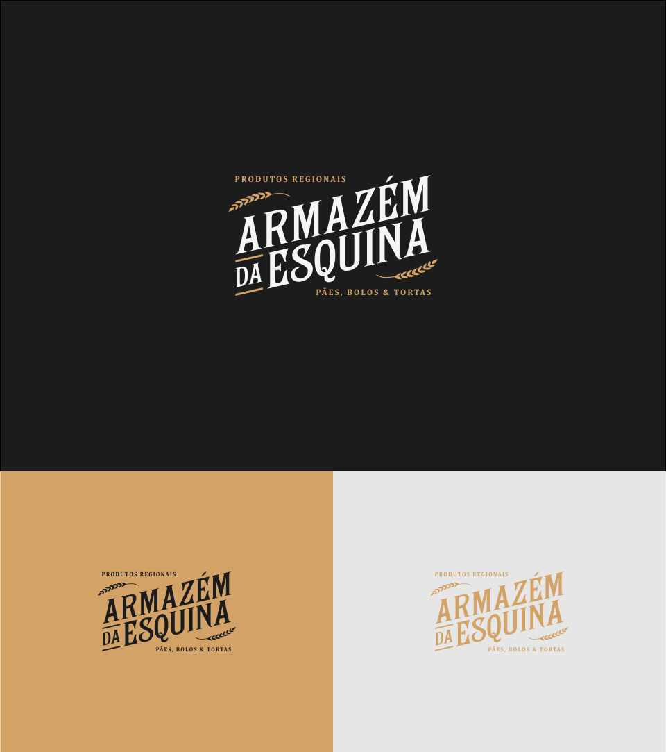 Logo for ARMAZÉM DA ESQUINA, old warehouse style at countryside of Brazil