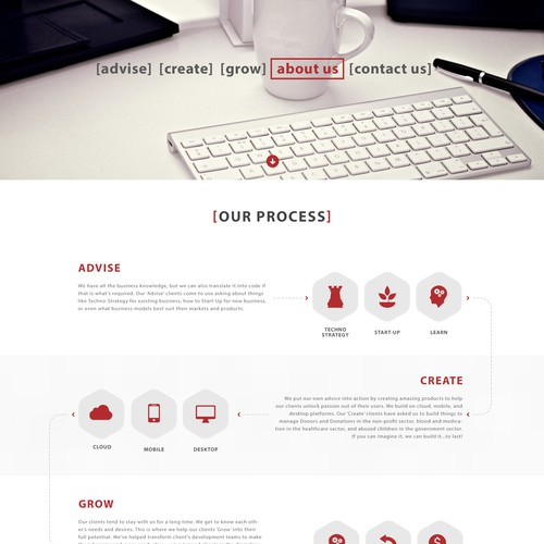 Website for Software Comany