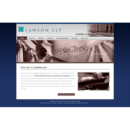 Canadian Law Firm Needs New Site Design