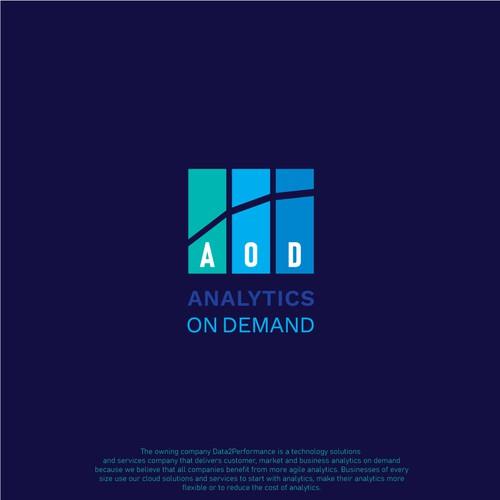 Analytics On demand logo concept