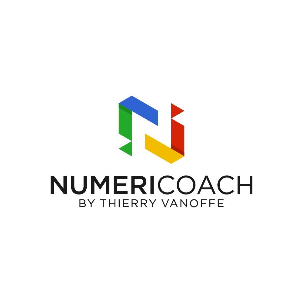 Créer un logo fun pour NUMERICOACH un organisme de formation spécialisé dans les outils Google