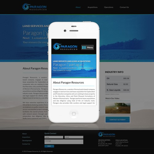 Paragon Resources Web Design