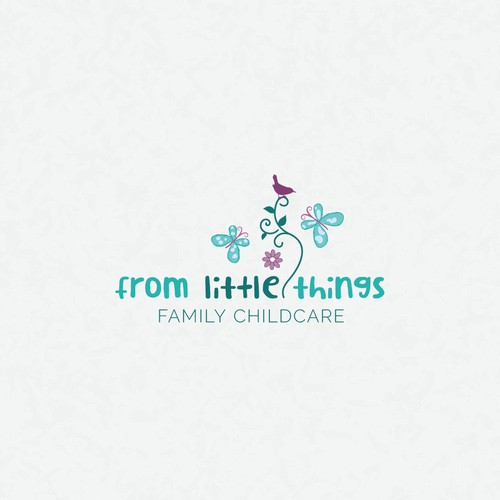 Logo and business card design for family childcare business | From Little Things