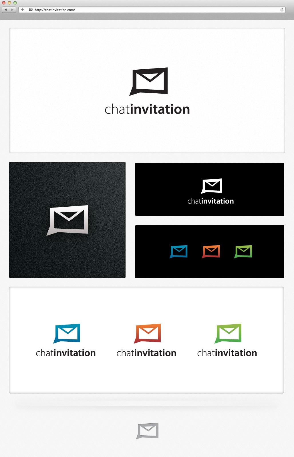 Create the next logo for chatinvitation.com
