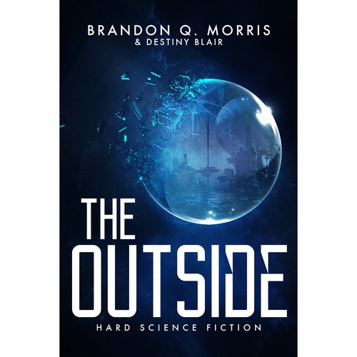 Book cover for science-fiction novel