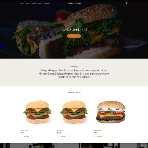 Weebly Site FastFood Templates