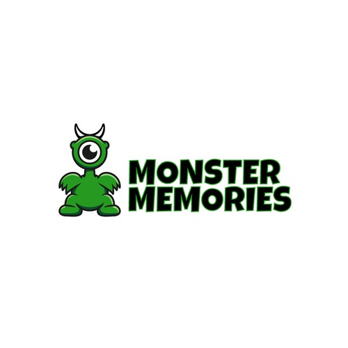 Fun monster logo for action camera company