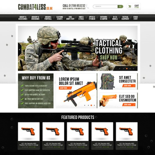 Webdesign for Combat4less