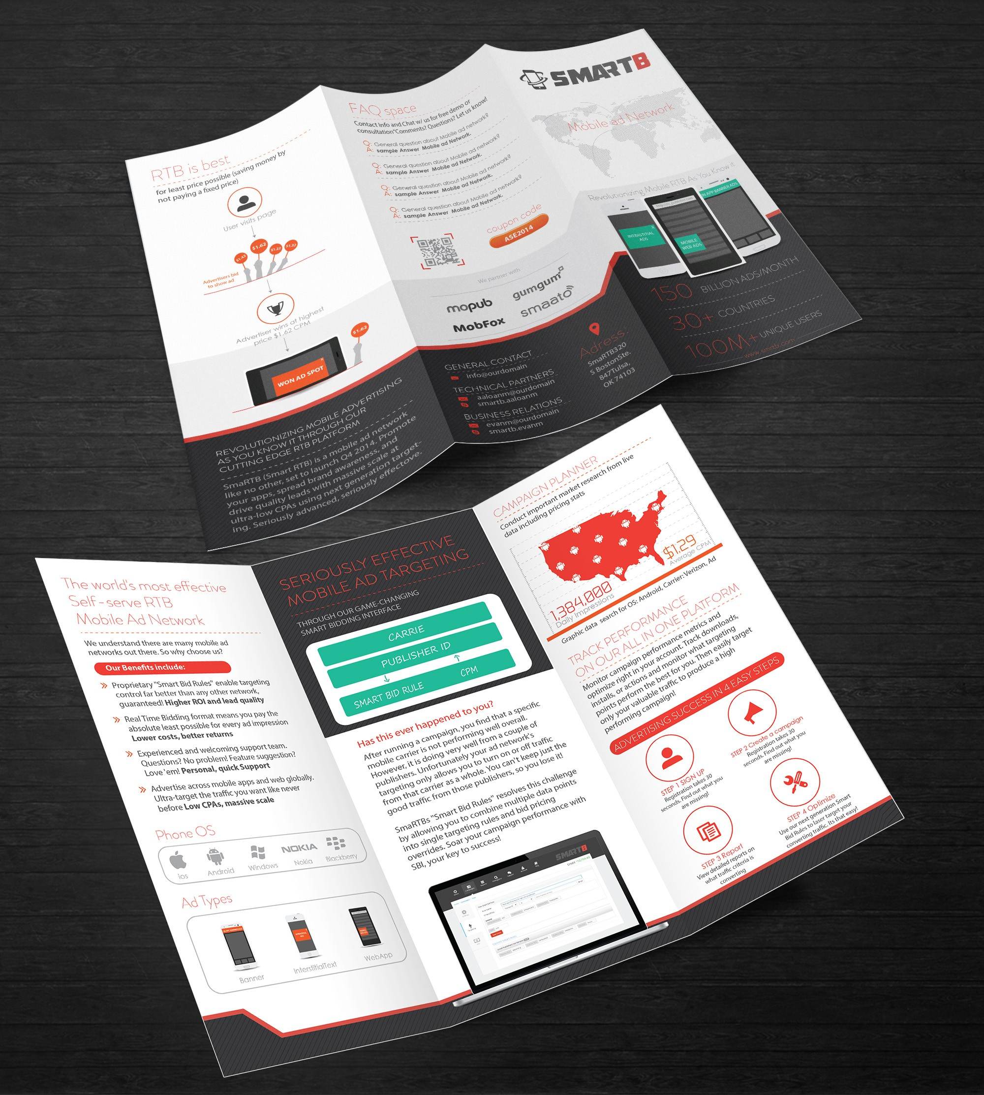 Brochure for mobile tech company