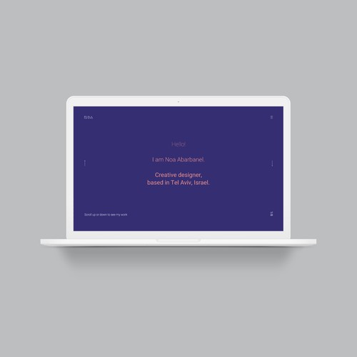 Personal portfolio custom website design