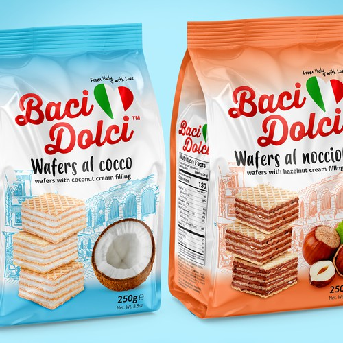 Baci Dolci wafer packaging line