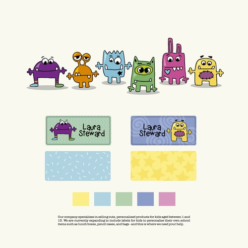 Design some cute monsters for kids :)