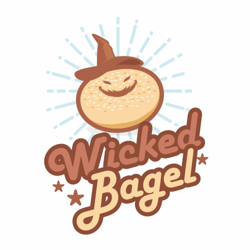 Logo for bagel bakery