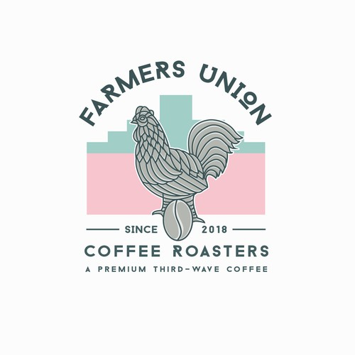 vintage logo for farmers unions