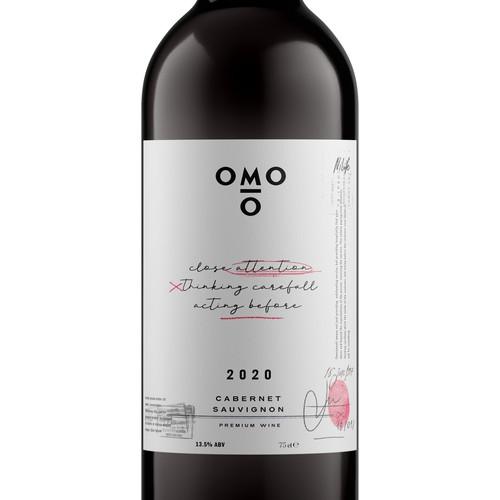 OMO10 Wine Label
