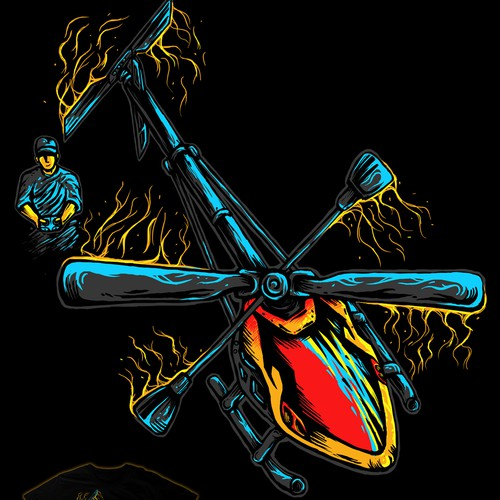 T-Shirt design for radiocontrolled Helicopter pilots.