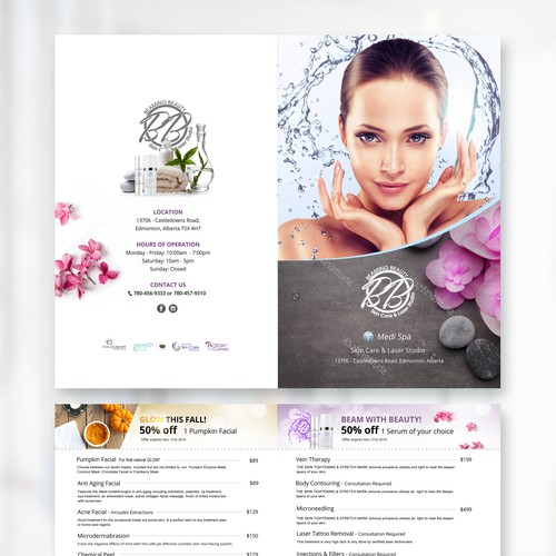 MediSpa Menu Design