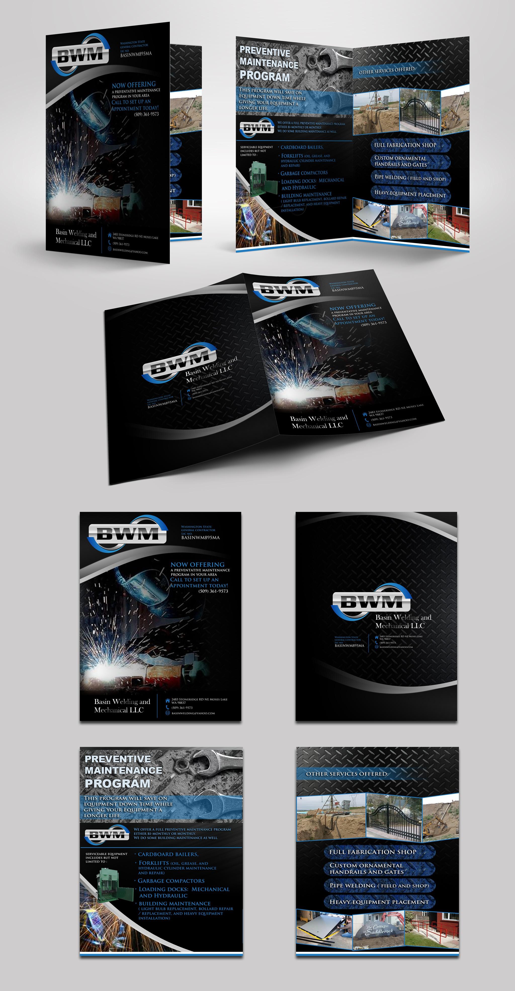 Design an attractive Brochure for Basin Welding and Mechanical LLC