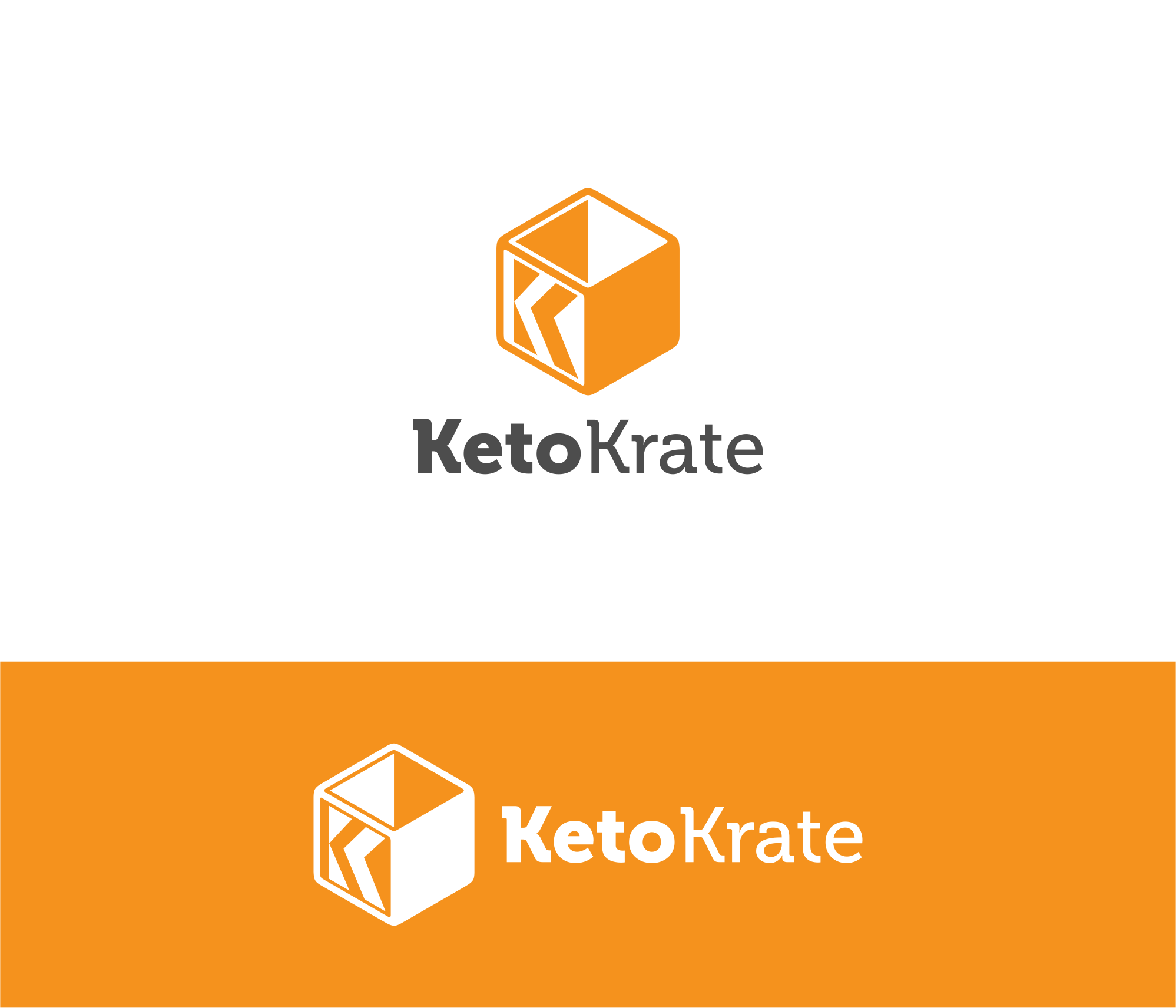 """Create a logo to use on our website and box for """"Keto Krate"""" subscription box."""