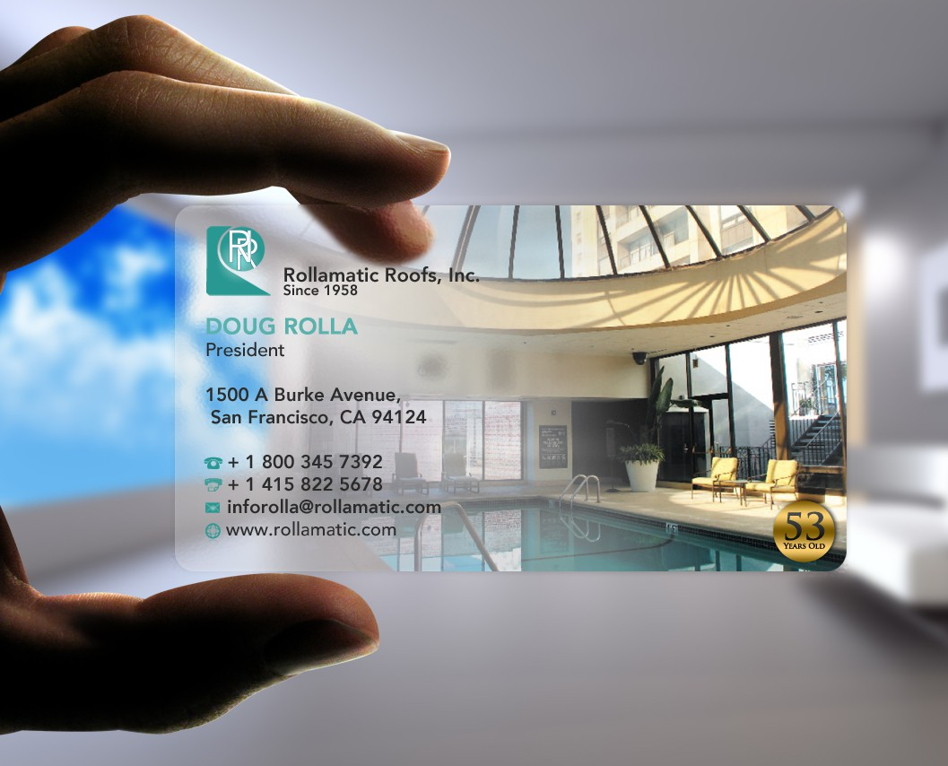 New Business card and stationary wanted for Rollamatic Roofs Inc.