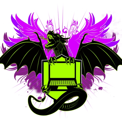 Dragon themed crest / emblem for Laptops
