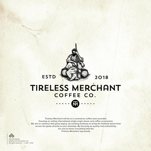 Vintage Logo for Tireless Merchant