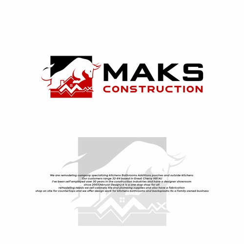 Logo Design For MAKS Constructions