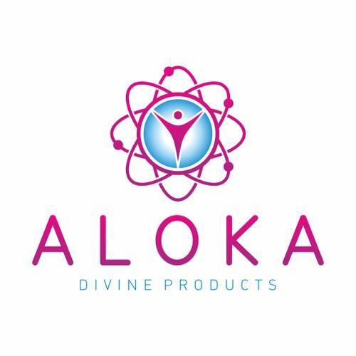 Aloka Divine Products logo design