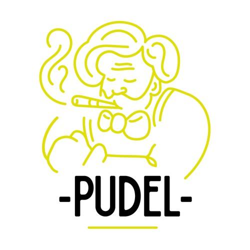 """in sich ruhendes Logokonzept für die Bar """"Pudel"""""""