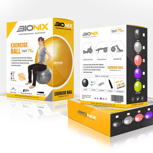 Fitness Ball product package for BioNix
