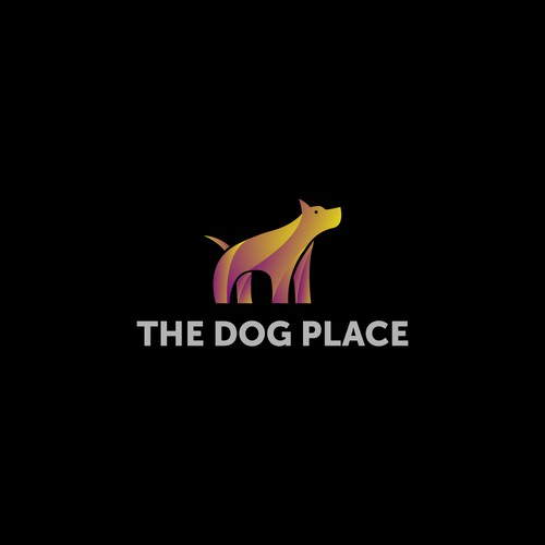 gradient dog logo