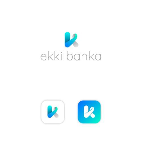 Logo design concept for financial platform in Iceland