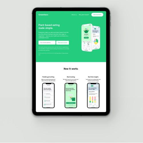 Greenhero application for plant-based eating. New York