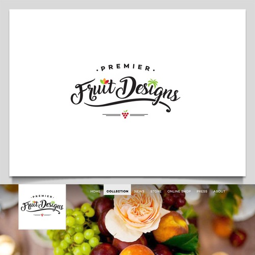 Hip, Simple and Elegant Logo for Premiere Fruit Designs