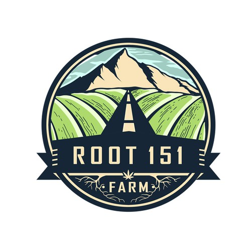 Agriculture Hemp Vintage Logo