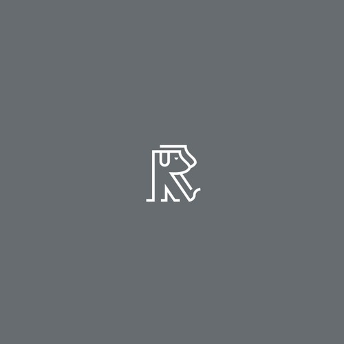 Simple logo concept for RIVER ROSE PET PHOTOGRAPHY
