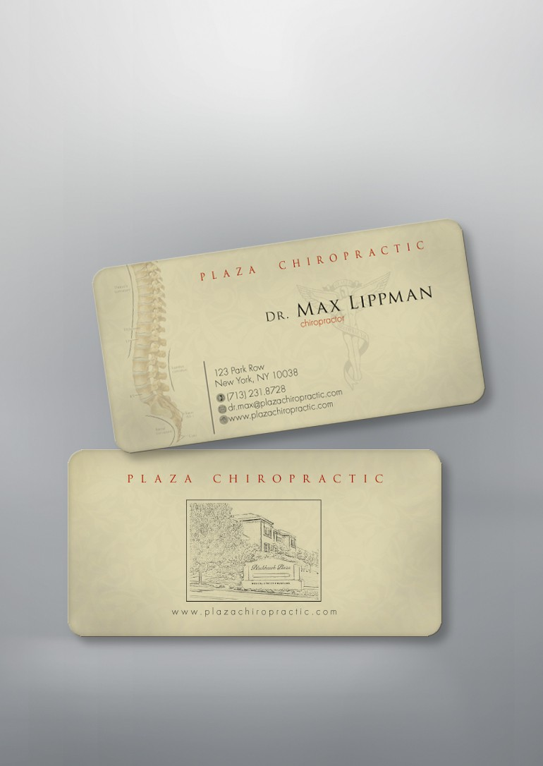 Plaza Chiropractic needs a new stationery