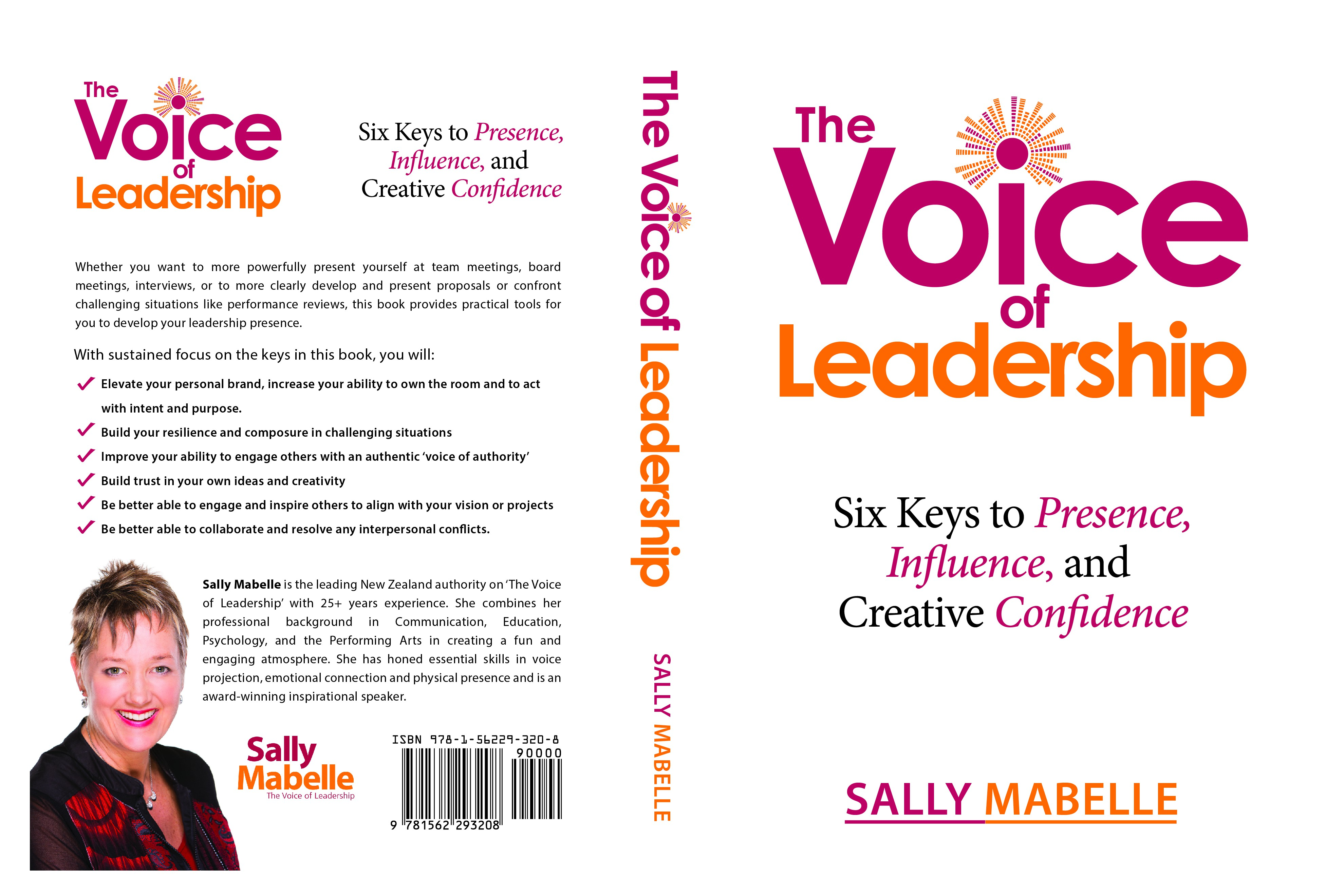 Step OUt and Speak Up! Design a business book cover for 'The Voice of Leadership'