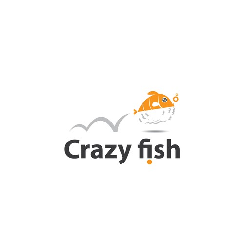 logo for crazy fish sushi bar