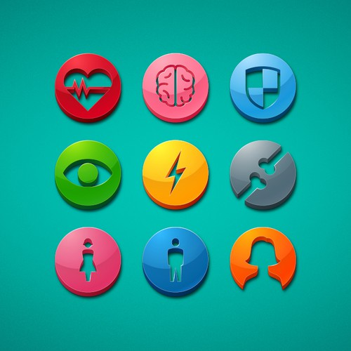 Create website icons for a nutrition product line!